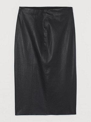 Kjolar - H&M Pennkjol i läder svart