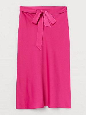 H&M Satinkjol med knytband rosa