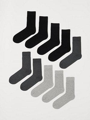 H&M 10-pack strumpor grå