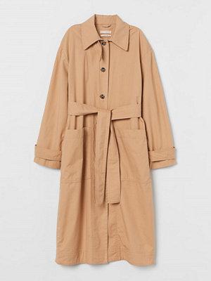 H&M Trenchcoat i pimabomull beige
