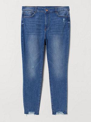 H&M H & M+ Super Skinny High Jeans blå