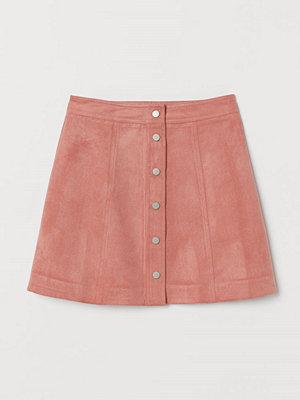 H&M A-linjeskuren kjol rosa