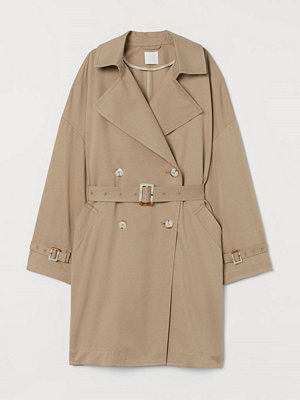 H&M Oversized trenchcoat beige