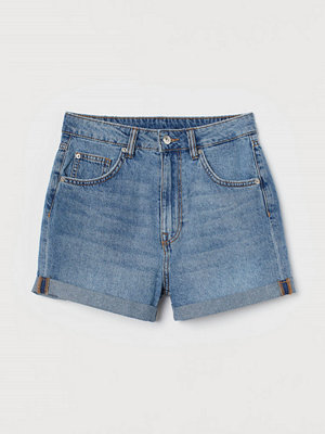H&M Jeansshorts Mom Fit blå