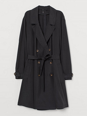 H&M H & M+ Lätt trenchcoat svart
