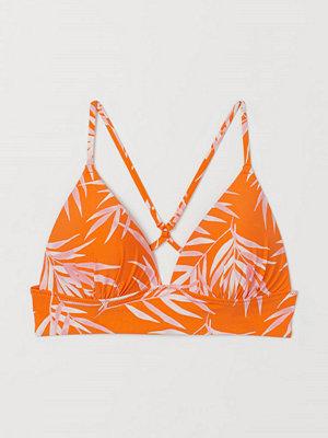 H&M Trekantsbikini-bh med push up orange