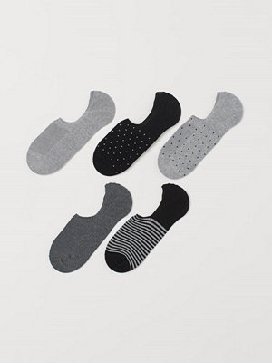 H&M 5-pack sneakersstrumpor grå