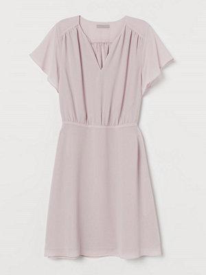 H&M Chiffongklänning rosa