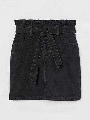 Kjolar - H&M Paper bag-kjol svart