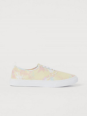 H&M Sneakers i canvas gul