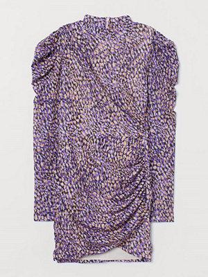 H&M Draperad klänning lila
