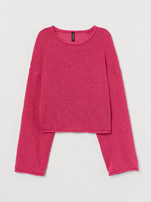 H&M Tröja i bouclégarn rosa