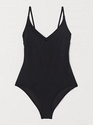 H&M V-ringad baddräkt svart