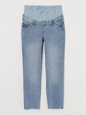 H&M MAMA Straight Ankle Jeans blå