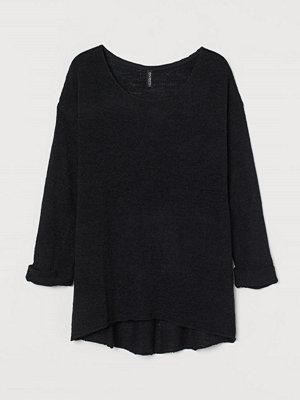 H&M Glesstickad tröja svart