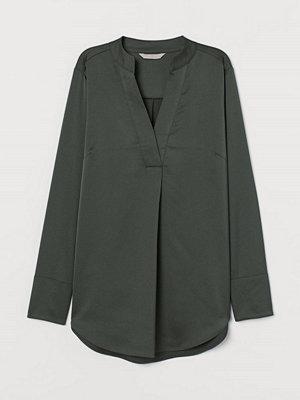 H&M Satinblus grön