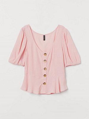 Blusar - H&M Blus med puffärm rosa