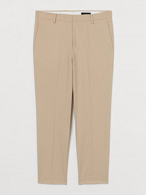 H&M Kostymbyxa i linmix Slim Fit beige