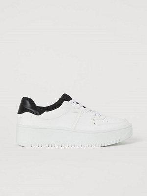 H&M Platåsneakers vit
