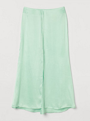 H&M Kjol i lyocellmix grön