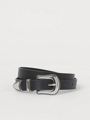H&M Skärp med stort spänne svart