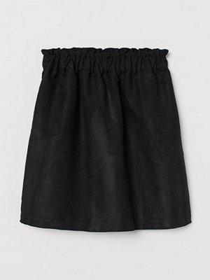 H&M Paper bag-kjol svart