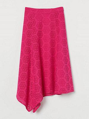 H&M Kjol med broderie anglaise rosa
