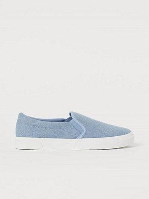 H&M Slip on-sneakers blå