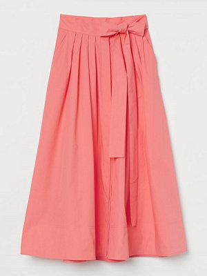 H&M Utställd bomullskjol röd