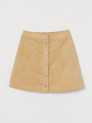 H&M A-linjeskuren kjol beige