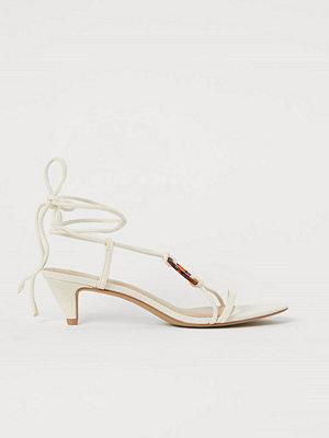 H&M Sandaletter med remmar beige