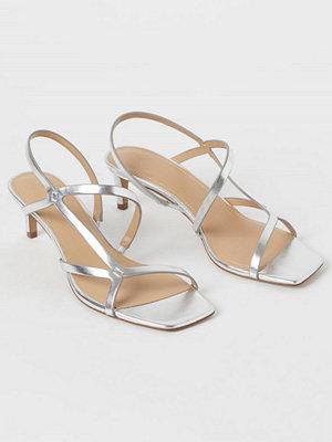 H&M Sandaletter silver