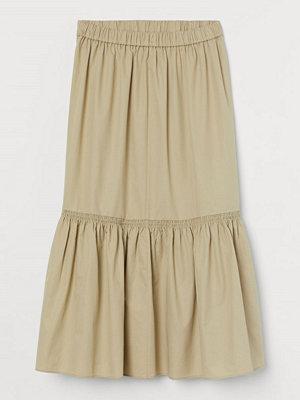 H&M Kjol i silkesmix beige