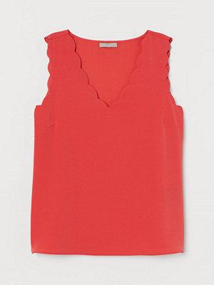 H&M Ärmlös blus röd
