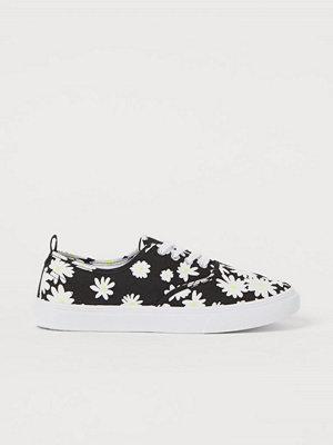 H&M Sneakers i canvas svart