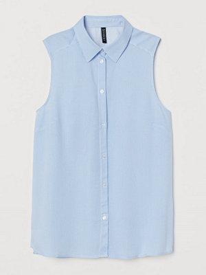 H&M Ärmlös blus blå