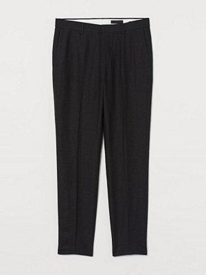 Byxor - H&M Kostymbyxa i linne Slim Fit svart