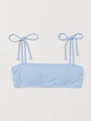H&M Vadderad bandeaubikini-bh blå