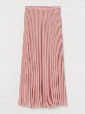 H&M Plisserad maxikjol rosa
