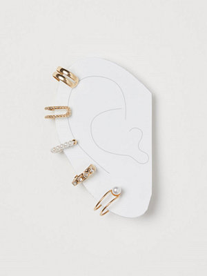 H&M örhängen 5-pack earcuffs guld