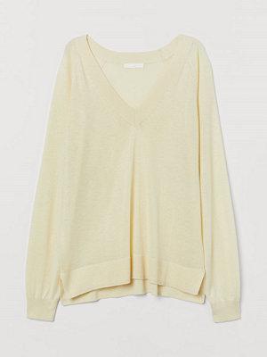 H&M V-ringad tröja gul