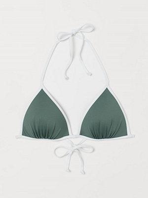 Bikini - H&M Trekantsbikini-bh med push up grön