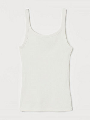 H&M Ribbat trikålinne vit