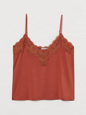 H&M Topp med spets orange