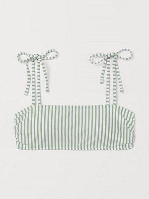 H&M Vadderad bandeaubikini-bh grön