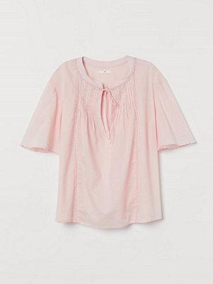 H&M Bomullsblus med stråveck rosa
