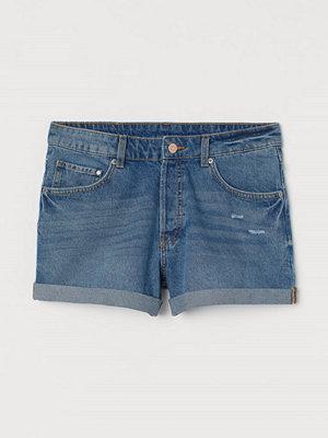H&M Jeansshorts Boyfriend blå