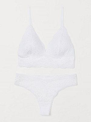 H&M Underklädesset i spets vit