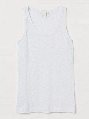 H&M Tanktop i lintrikå vit