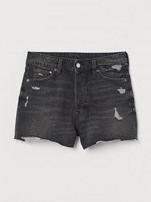 H&M Jeansshorts Vintage High Waist svart
